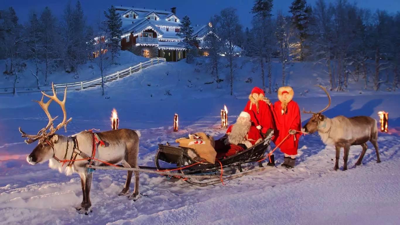Il Paese Di Babbo Natale Lapponia.Vacanza In Lapponia A Rovaniemi Il Villaggio Di Babbo Natale